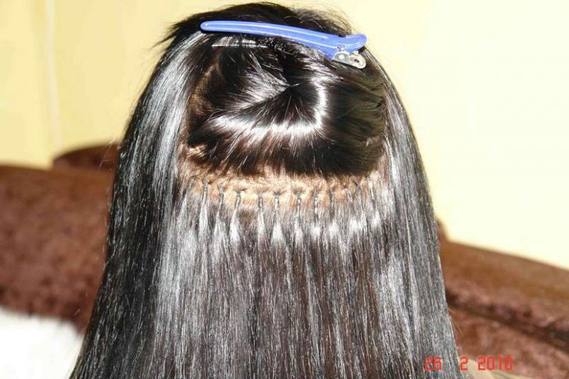 Холодное наращивания волос методы